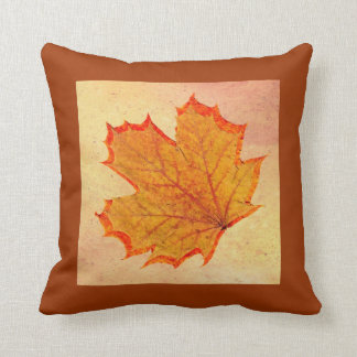 Autumn leaf pillow