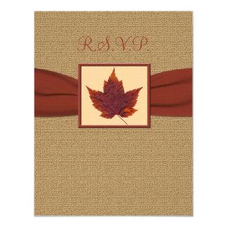 Autumn Leaf RSVP Card