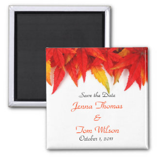 Autumn Leaf Save the Date Magnet