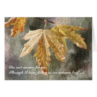 Autumn Leaf Sympathy Card