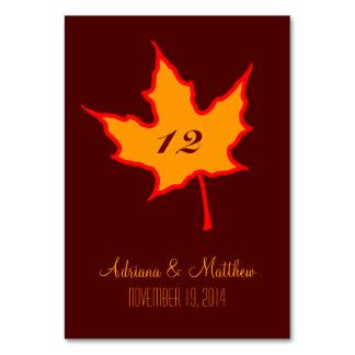 Autumn Leaf Table Card
