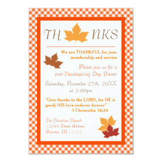 Autumn Leaf - Thanksgiving Dinner Invitation