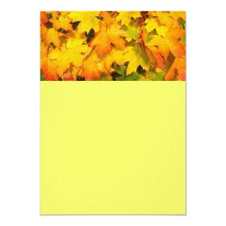 Autumn Leaf Tree Fall Nature Forest Destiny Season 5x7 Paper Invitation Card