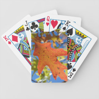 Autumn Leaf Up Close Bicycle Playing Cards