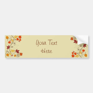 Autumn Leaf Vines with Customizable Text Bumper Stickers