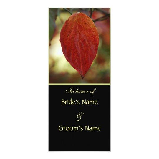 Autumn Leaf Wedding Brunch Invitations