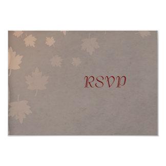 "Autumn Leaf Wedding RSVP Reply Cards 3.5"" X 5"" Invitation Card"