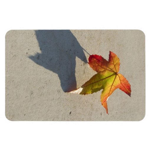 Autumn Leaf with Shadow Vinyl Magnet