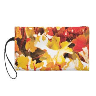 Autumn Leaf Wristlet