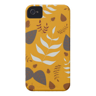 Autumn leafs and acorns iPhone 4 cases
