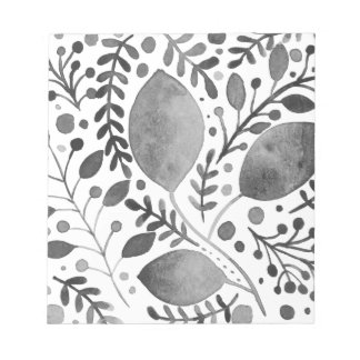 Autumn leafs - black and white notepad