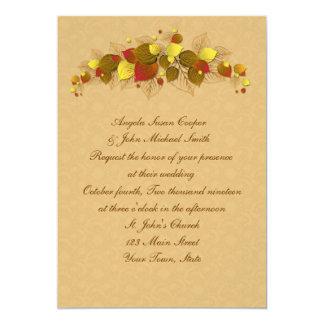 Autumn Leaves 13 Cm X 18 Cm Invitation Card
