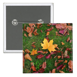 Autumn Leaves 15 Cm Square Badge