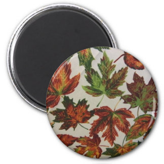 Autumn Leaves 6 Cm Round Magnet