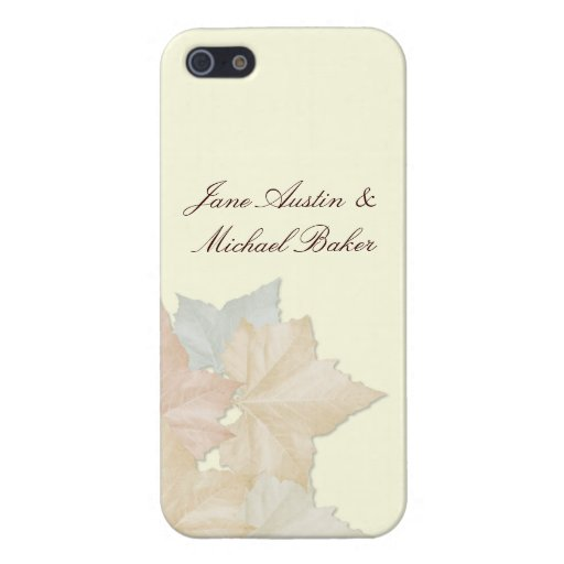 Autumn Leaves, A Fall Wedding Floral iPhone 5 Case