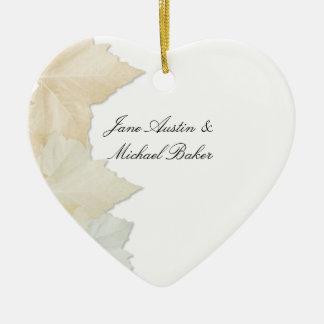 Autumn Leaves, A Fall Wedding Romantic Heart Ceramic Heart Decoration