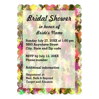 Autumn Leaves Abstract Bridal Shower Invite