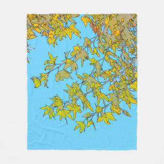 Autumn Leaves Abstract Fleece Blanket