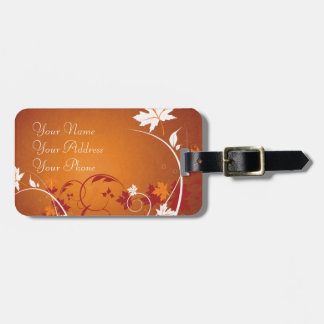 Autumn Leaves Abstract Luggage Tag