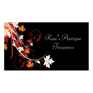 Autumn Leaves Abstract Personal Pack Of Standard Business Cards