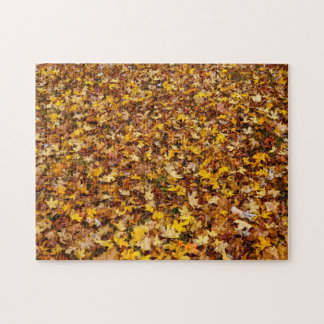 Autumn Leaves Abstract Puzzle