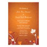 Autumn Leaves Abstract Wedding Invitation