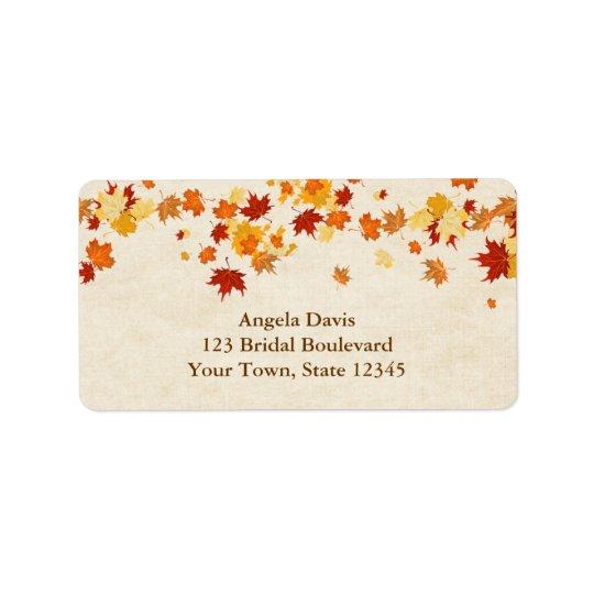 Autumn Leaves Address Label