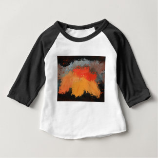 Autumn leaves and birds baby T-Shirt