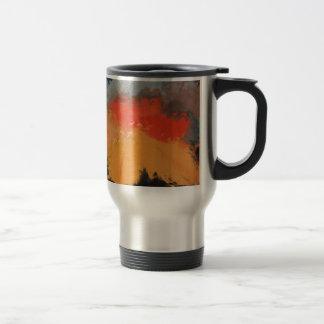 Autumn leaves and birds travel mug