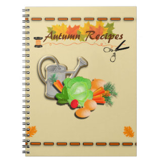 Autumn Leaves and Food Notebook