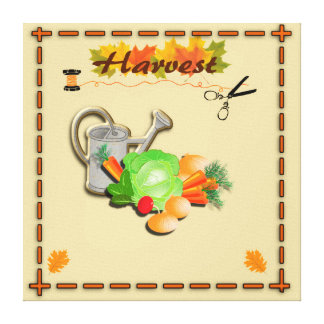 Autumn Leaves and Harvest Canvas Print
