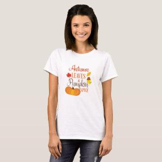 Autumn Leaves and Pumpkin Spice Shirt