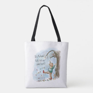 Autumn Leaves Are Falling Tote Bag