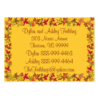 Autumn Leaves At Home Address Business Card Templates