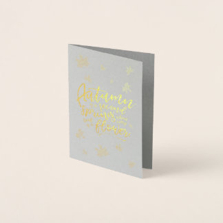 Autumn Leaves Become Flowers | Blank Card