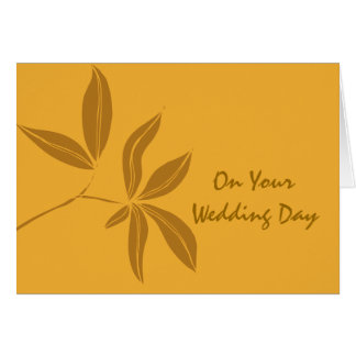 Autumn Leaves Blended Family Wedding Card Greeting Card