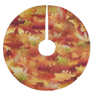 Autumn Leaves Brushed Polyester Tree Skirt