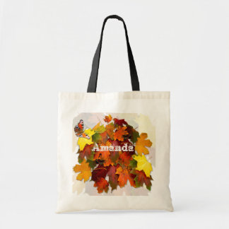 Autumn Leaves  ~   Budget tote Canvas Bag