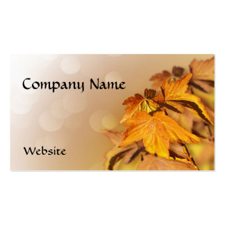 Autumn Leaves Business Card