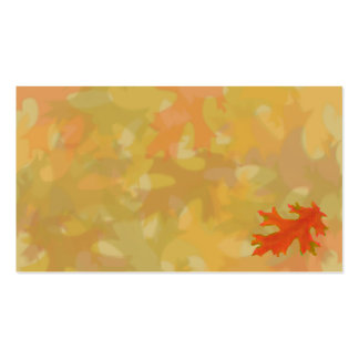 Autumn leaves, business cards