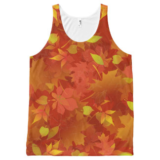 Autumn Leaves Carpet All-Over Print Tank Top