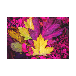 Autumn Leaves Collage By Thomas Minutolo Canvas Print