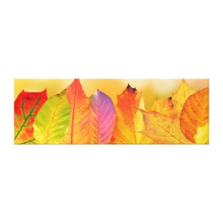 Autumn Leaves Colorful Modern Fine Art Photography Canvas Print