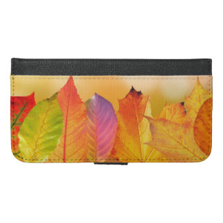 Autumn Leaves Colorful Modern Fine Art Photography iPhone 6/6s Plus Wallet Case