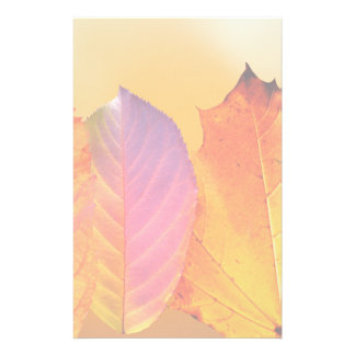 Autumn Leaves Colorful Modern Fine Art Photography Stationery