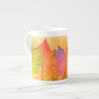 Autumn Leaves Colorful Modern Fine Art Photography Tea Cup