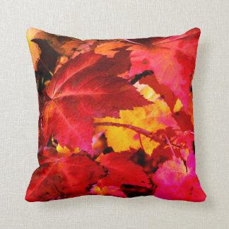 Autumn leaves cushion