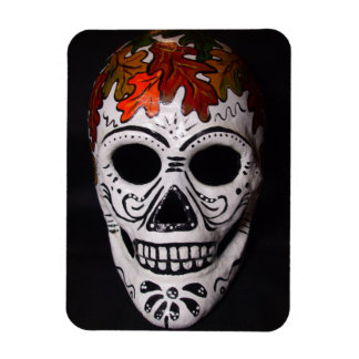 Autumn Leaves Day of the Dead Skull Magnet
