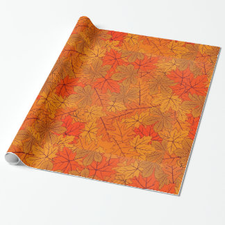 Autumn Leaves Design Wrapping Paper