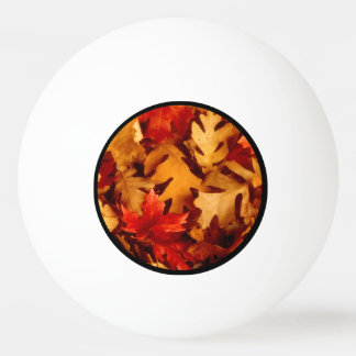 Autumn Leaves - Fall Color Ping Pong Ball